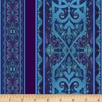 RJR Fashion Fabrics Miyako Border Stripe Blue Fabric By The Yard
