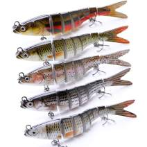 VTAVTA 5.51inch Bass Fishing Lures Freshwater Fish Lures Swimbaits Slow Sinking Gears Lifelike Lure Glide Bait Tackle Kits
