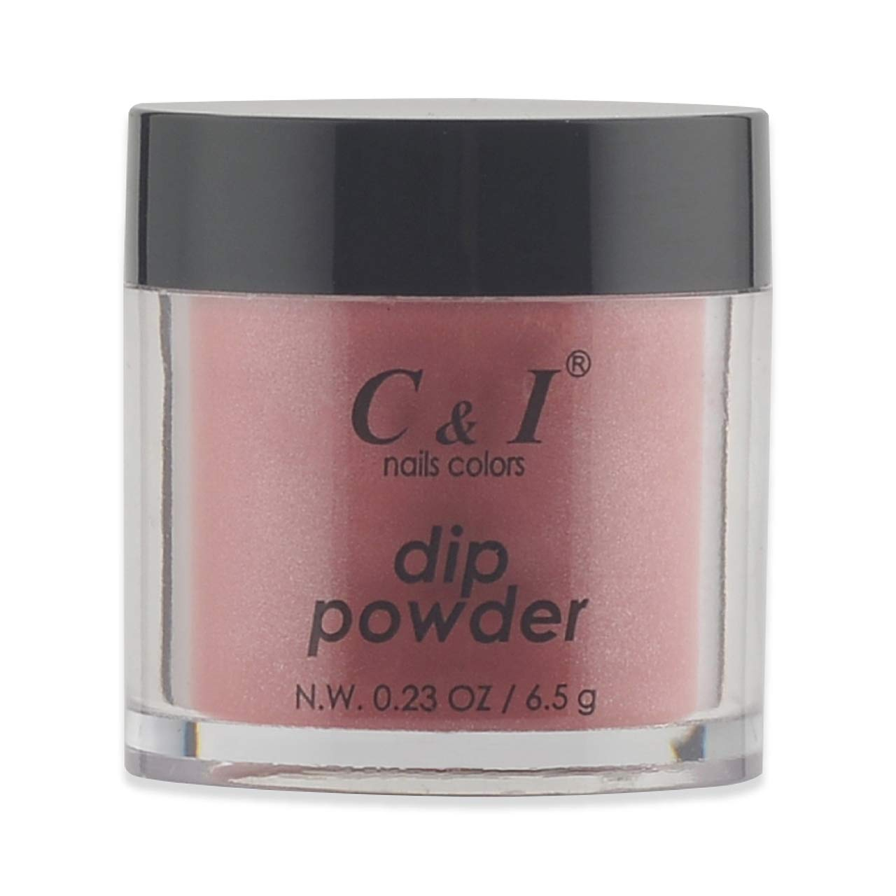 C & I Dipping Powder, Nail Colors, Gel Effect, Color # 44 Watermelon, 0.23 oz, 6.5 g, Red Color System (4 pcs)