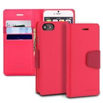 iPhone 7 Case, ModeBlu [Classic Diary Series] [Hot Pink] Wallet Case ID Credit Card Cash Slots Premium Synthetic Leather [Stand View] for Apple iPhone 7 (2016)