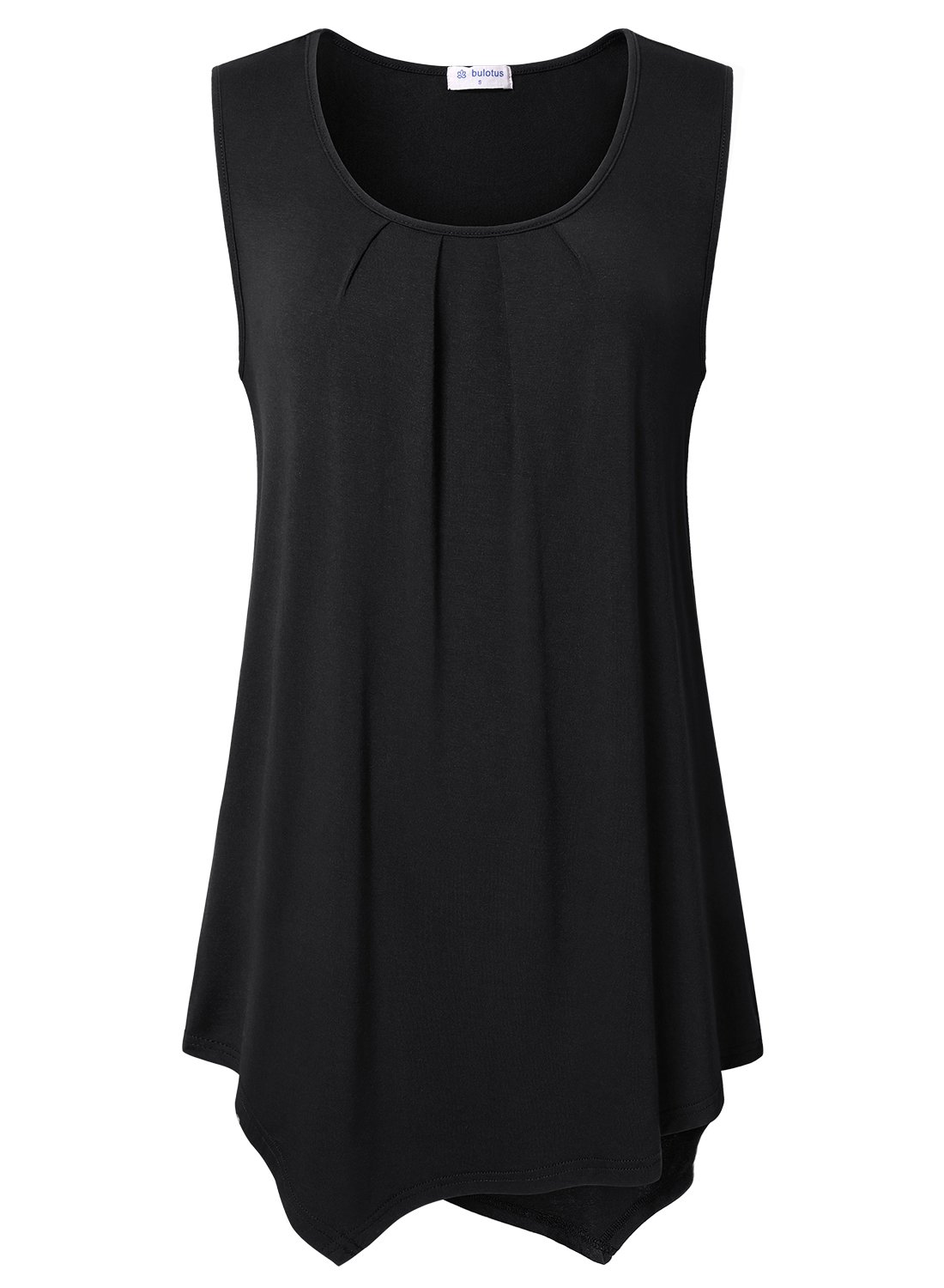 Bulotus Women's Sleeveless Notch V-Neck Summer Casual Tank Top Shirt