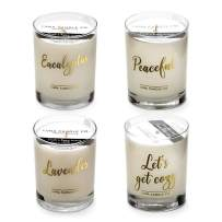 Luna Candle Co. Sit Back, Relax - Lavender and Eucalyptus Scented Luxurious Candles - 11 Oz (4 Candle Set)