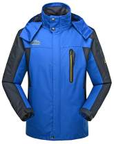 4HOW Mens Water Resistant Ski Jacket Hooded Outdoor Fleece Coat