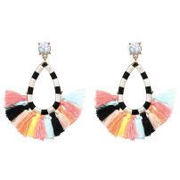 Women's Fashion Tassel Earrings Colorful Vintage Drop Dangle Bohemian Statement Earrings Water Drop Boho Earrings for Women Girls (Colours)