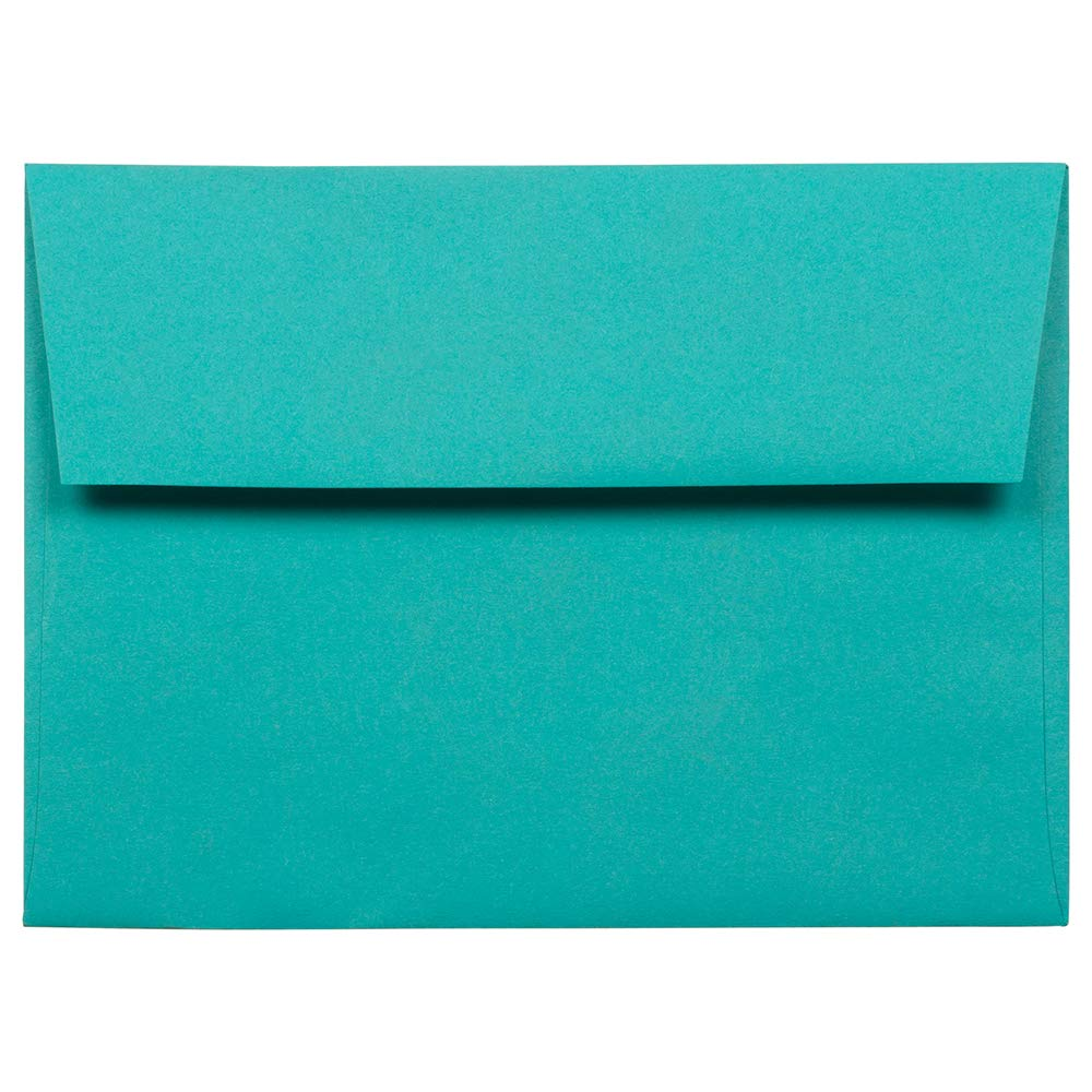 JAM PAPER A6 Colored Invitation Envelopes - 4 3/4 x 6 1/2 - Sea Blue Recycled - 100/Pack