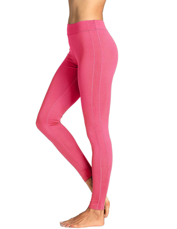 SYROKAN Women's Running Sports Tights Workout Leggings Comfort Flex Pants