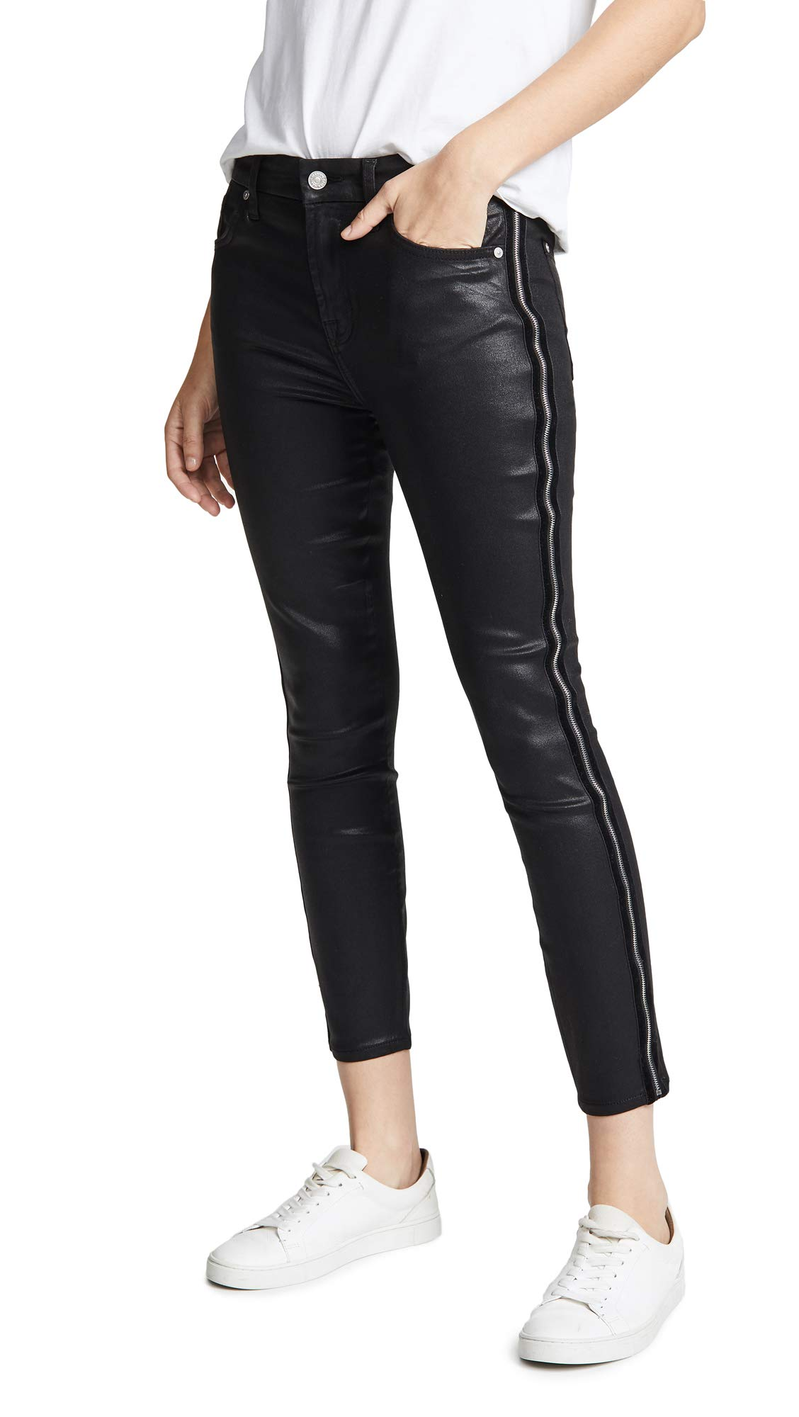 7 For All Mankind Women's B(air) Coated High-Waisted Skinny Jeans