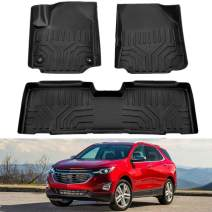 MotorFansClub Floor Mats Liners Fit for Compatible with Chevrolet Equinox Chevy Equinox 2018 2019 2020 Cargo Carpet All Weather Protector Front Rear Mats TPE Black