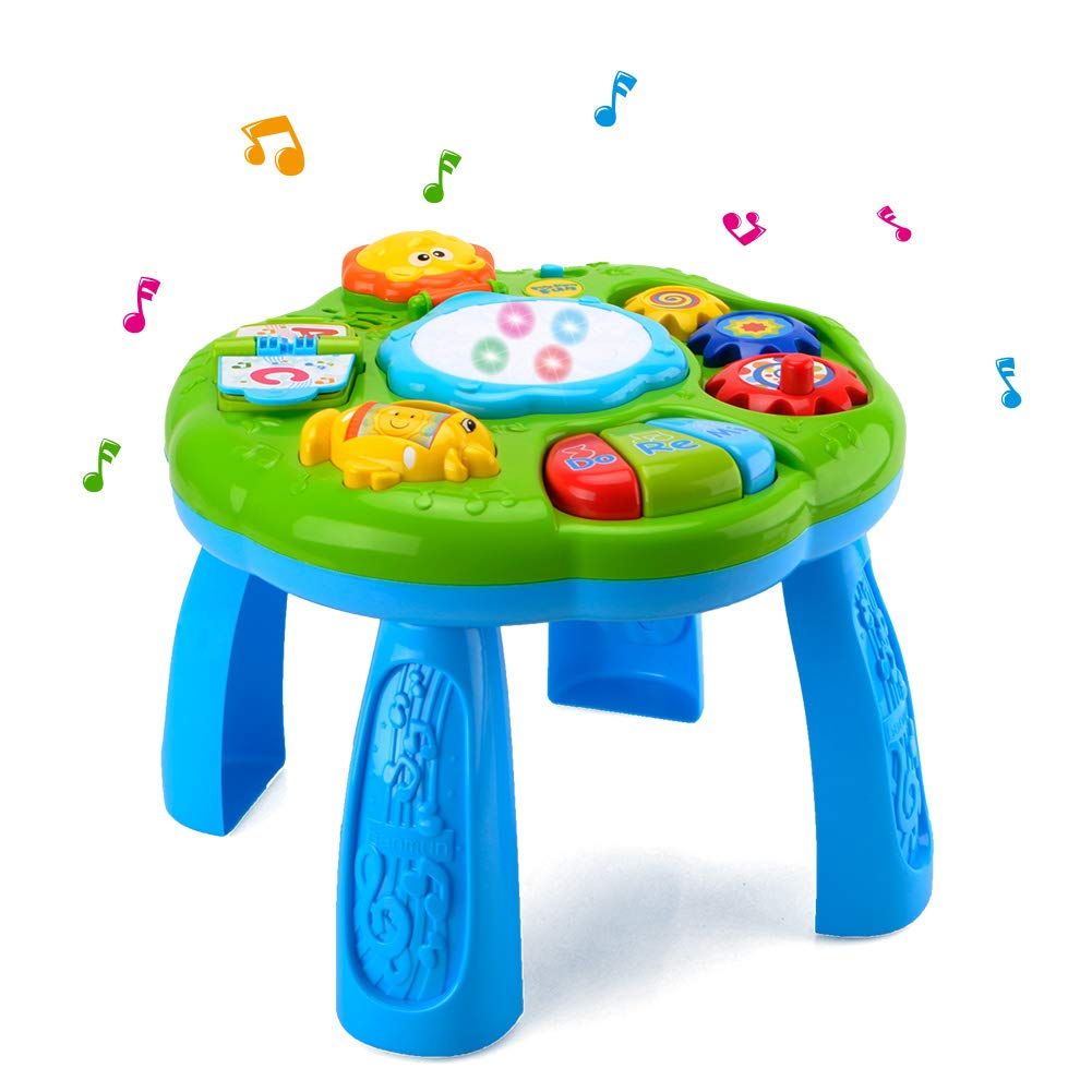 HANMUN Musical Learning Table Baby Toy - Electronic Education Toys for Toddlers Early Development Activity Toy (Green) … …