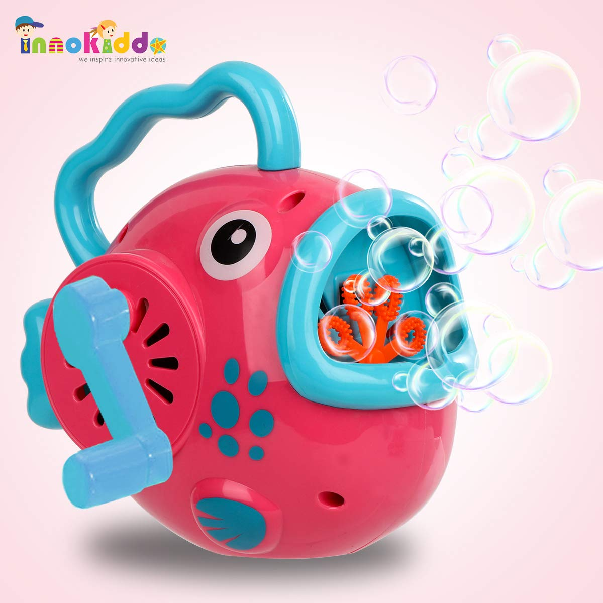 Hand-Controlled Fish Bubble Machine for Kids, Bubbles Blower Toy with Bubble Solution, No Batteries Needed, Fun all season kids outdoor toys. Activity for Boys&Girls&Toddlers, Best Gift Idea