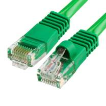 CMPLE Cat5e Network Ethernet Cable - Computer LAN Cable 1Gbps - 350 MHz, Gold Plated RJ45 Connectors - 25 Feet Green