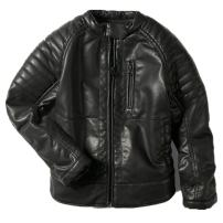 LJYH Boys Faux Leather Jacket Children's Collar Motorcycle Leather Coat