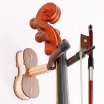 Violin Home and Studio Wall Mount Violin Hangers, Black Walnut