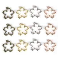 LANBEIDE Bezel Charms Pendants Frame Open Back Bezel Hollow Mold Pressed Flower for Jewelry Resin Earring Necklace Bracelet 20 PCS, Flower
