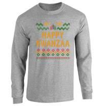Pop Threads Happy Kwanzaa Sweater Style Black Heritage Holiday Full Long Sleeve Tee T-Shirt