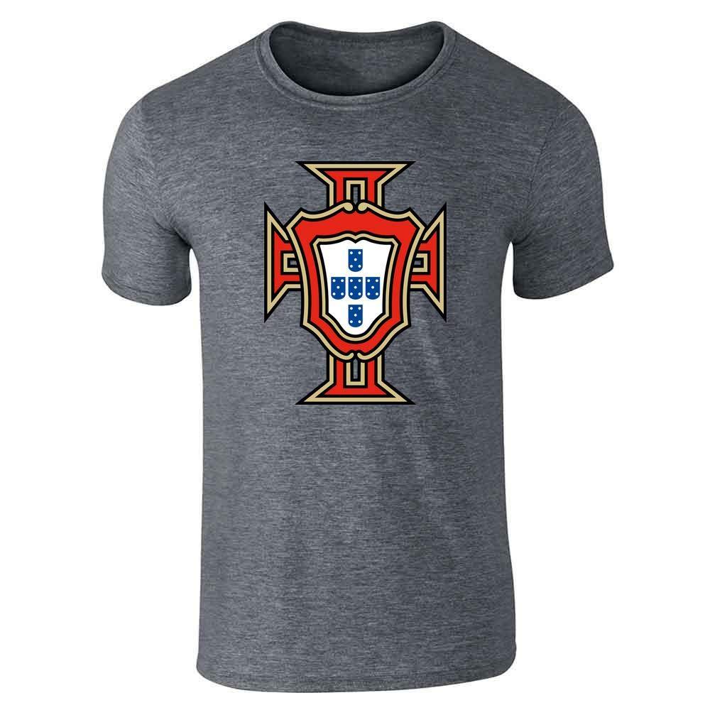 Portugal Soccer National Team Football Retro Crest Graphic Tee T-Shirt for Men
