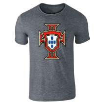 Portugal Soccer National Team Football Retro Crest Graphic Tee T-Shirt for Men