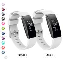 I-SMILE Fitbit Inspire/Inspire HR Bands, Classic Edition Replacement Sport Wristband for Fitbit Inspire/Inspire HR with Buckle, One Size(S & L Bands Included)