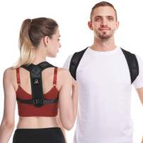 ZZZNEST Posture Corrector for Men and Women, Back Brace For Clavicle Support - Relief Pain for Neck, Back and Shoulder, Comfortable Posture Trainer for Spinal Alignment & Posture Correction