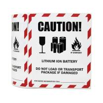 """3 Rolls - Lithium Battery Warning Label for Shiping & Handling 4"""" x 4.75"""" - 900 Labels"""