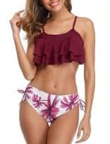 Mycoco Women's Crop Bikini Set Flounce Two Piece Swimsuits