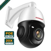 POE PTZ Camera Outdoor, BOAVISION 1080P High Speed Home Surveillance ip Camera, Pan/Tilt/ 20x Optical Zoom CCTV Security Dome Cameras, 328ft Night Vision IP66 Waterproof, Support IE Access & ONVIF Pro
