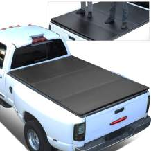 Replacement for 14-18 Chevy Silcerado/GMC Sierra 6.5Ft Short Bed FRP Hard Solid Tri-Fold Tonneau Cover
