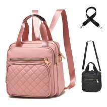 Backpack Purse for Women Multi Pocket Shoulder Bag Waterproof Nylon Travel Daypack