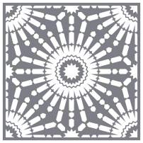 A Makers' Studio | Tri Mesh Adhesive Stencil | Floor Tile Moroccon | Reusable | DIY Art and Craft Stencils | Multi-Surface Adhesion | 12 x 12