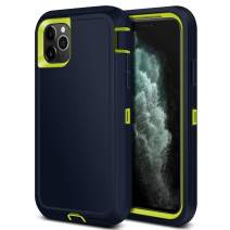Jiunai iPhone 11 Pro Max Case, Outdoor Sports Tough Heavy Duty Drop Protection Shockproof Anti Scratch Dual Layer Armor Strong Rugged Cover Matte Case ONLY for iPhone 11 Pro Max 6.5 inches 2019 Blue
