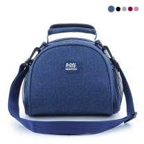 Sunwuun Lunch Bag, Insulated Lunch Bag, Cool Bag for Lunch, Waterproof Leak-Proof Lunch Bag for Adults, Men, Women,Outdoor, Picnic, Work 5 Colors (Navy Blue)