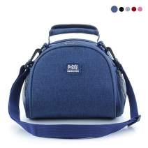 Sunwuun Lunch Bag, Insulated Lunch Bag, Cool Bag for Lunch, Waterproof Leak-Proof Lunch Bag for Adults, Men, Women,Outdoor, Picnic, Work 5 Colors (Navy Blue)