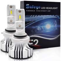 9006 HB4 LED Headlight Bulb Conversion Kit SAFEGO 72W 65000K 12000LM(6000LMx2) 9006 Bulb Extremely Bright Led Chips Waterproof Ip67 360°Degree Lighting for Car Headlight Replacement,2 Pack