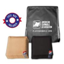 """Official Cornhole Bags from The American Cornhole Association 6"""" Double-Stitched Corn-Filled Bean Bags for Corn Hole Outdoor Game - Regulation Size"""