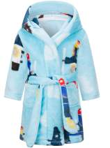 Kids Ultra-Soft Flannel Hooded Bathrobes for Boys and Girls