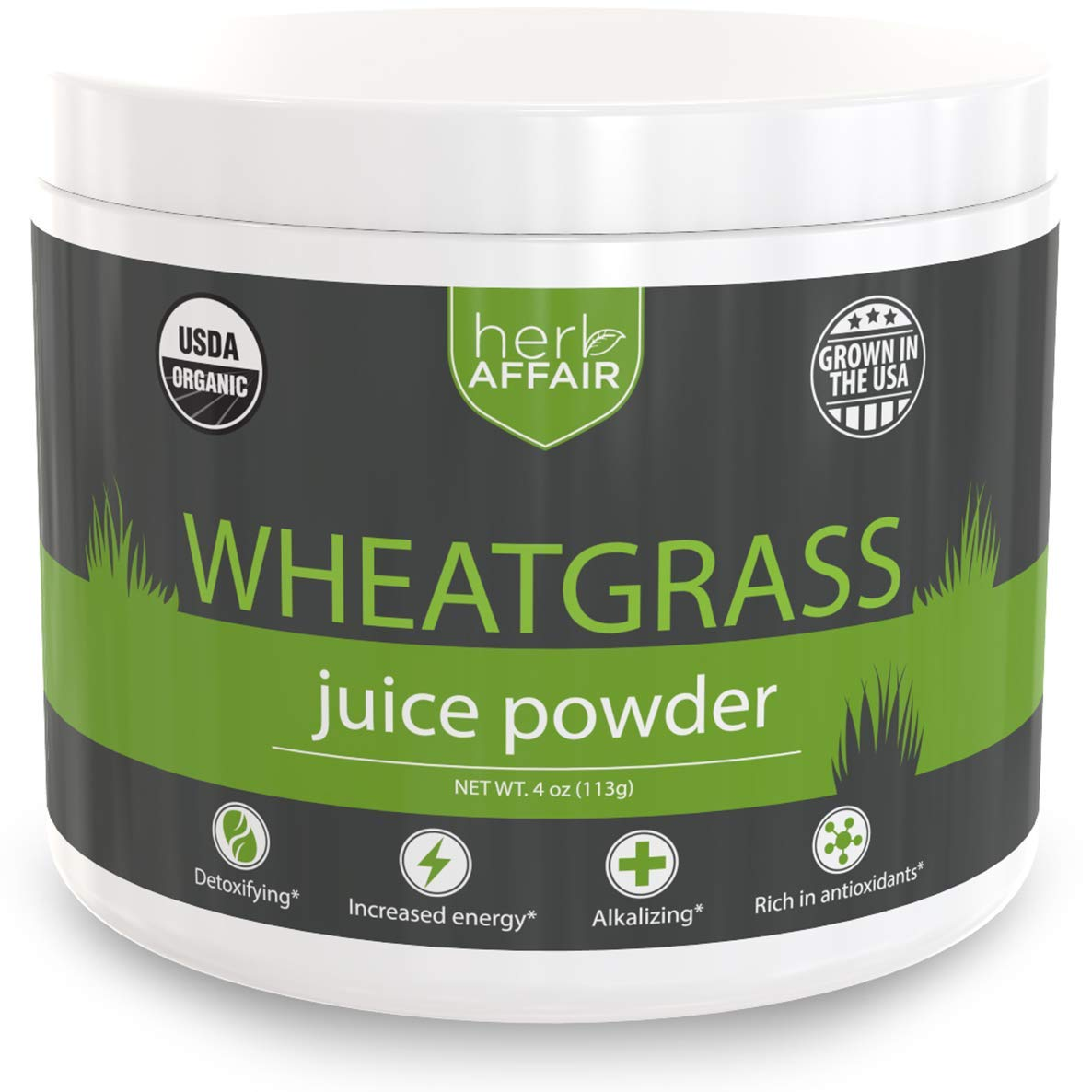 Wheat Grass Juice Powder, Organic | Mild, Sweet Flavor and Easy to Mix - US Grown, Non-GMO, High Chlorophyll Superfood - Make The Perfect Wheatgrass Shot Everytime - 45 Servings