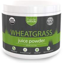 Wheat Grass Juice Powder, Organic   Mild, Sweet Flavor and Easy to Mix - US Grown, Non-GMO, High Chlorophyll Superfood - Make The Perfect Wheatgrass Shot Everytime - 45 Servings