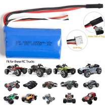 FSTgo 7.4V 1500mAh Li-ion Rechargeable Battery Pack for 1/12 BG1513A RC Cars