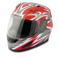 Raider Full Face Helmet (Red, Large)