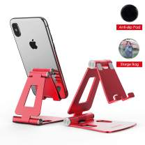 Adjustable Cell Phone Stand, licheers Multi-Angle Cell Phone Holder, Cradle, Dock, Stand Compatible with Nintendo Switch, Phone 11 Pro Xs Max Xr X 8 7 6 6s Plus and 4-7 Inch Devices (Red)