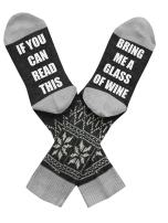 Qrupoad I'm Watching Christmas Movies Novelty Funny Crew Cotton Socks Bring Me A Glass Of Wine Socks