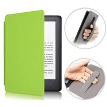 CASZONE Case for All-New Kindle (10th Gen - 2019 Release Only) Ultra Slim PU Leather and PC Hard Back Cover Rugged Smart Protective Case with Hand Grip, Auto Sleep/Wake, 6.0inch - Green