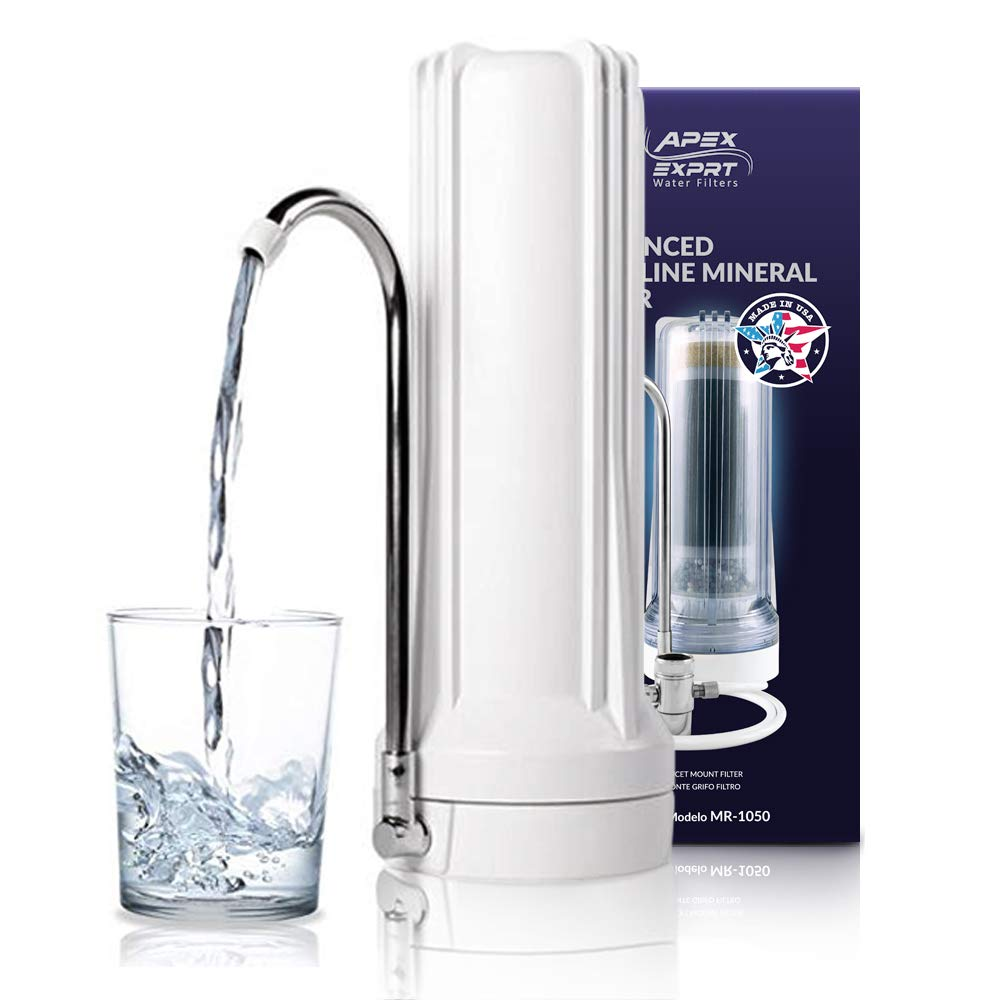 APEX Countertop Drinking Water Filter - Alkaline (White)