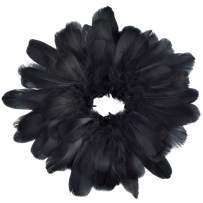 obmwang 100 Pieces 8-12cm Natural Goose Feathers for DIY Craft Wedding Party Home Decorations, Black
