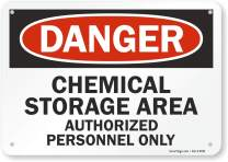 "SmartSign ""Danger - Chemical Storage Area, Authorized Personnel Only"" Sign 