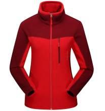 FEOYA Women Fleece Jacket Full Zip Warm Coat Windproof Fall Winter Men Outerwear for Outdoor Sports