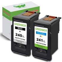 GREENBOX Remanufactured Ink Cartridge Replacement for Canon PG-240XL 240 XL CL-241XL 241 XL Used in Canon PIXMA MG3620 TS5120 MX472 MX452 MG3220 MG3522 MG3520 MG2120 MX432 (1 Black 1 Tri-Color)