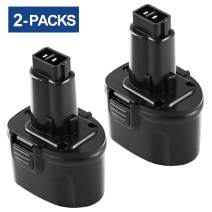 Upgraded to 3600mAh DW9057 Replacement for Dewalt 7.2V Battery DE9057 DE9085 DW920K DW920K2 DW925K DW925K2 DW968K Cordless Power Tool 2 Pack