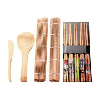 Bamboo Sushi Kit, Sushi Making Kit Mat Homemade Sushi Gadget for Family Office Party