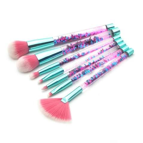 Makeup Brushes Set, Professional Brush Foundation Eyebrow Eyeliner Blush Cosmetics Brush Kit (7pcs(C))